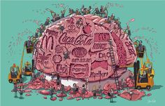These Powerful Art Illustrations Show How Backwards Society Really Is – If you don't shape your own mind, the system will gladly do it for you/Artist credit: Steve Cutts Art And Illustration, Art Environnemental, Satirical Illustrations, Art Illustrations, Powerful Art, Political Art, World Pictures, Success Pictures, Environmental Art