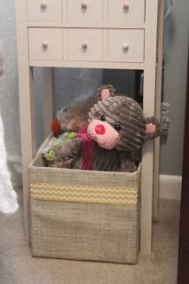 Burlap Wrapped Diaper Box. From diaper box to toy bin