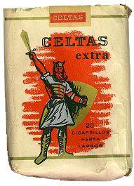 Cárteles antiguos de publicidad- Tabaco Celtas extra