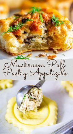 Each of these garlicky chicken appetizers are wrapped in a crunchy and buttery baked puff pastry shell. Its easy quick and insanely delicious! Puff Pastry Appetizers, Chicken Appetizers, Finger Food Appetizers, Yummy Appetizers, Appetizers For Party, Appetizer Recipes, Chicken Recipes, Puff Pastry Shell Recipe, Recipes Using Puff Pastry