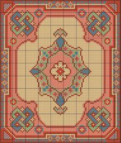 Miniature rug cross-stitch