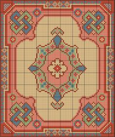 Miniature rug cross-stitch