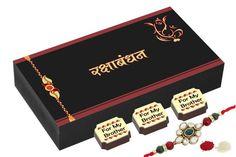 Rakhi gifts for brother - 6 Chocolate Gift Box - Rakhi with gifts with Rakhi