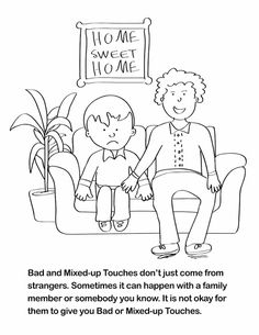 a coloring book geared for teaching children about sexual abuse - Good Touch Bad Touch Coloring Book