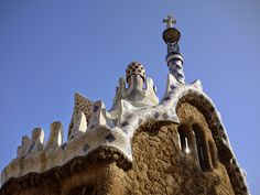 Gingerbread-style house at Gaudi's Park Guell in Barcelona