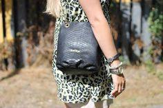 My leowulff bag... #leowulff #snakebag #pouch #softbag #goldchain #leopardprint #vest #riverisland #aprosioco #hamsa #bracelet #streetstyle #style #blogger  More at www.Lionsandwolves.com