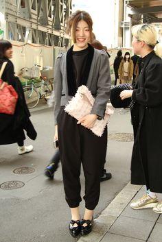 Tokyo Fashion Week street style.  [Photo by Onnie A. Koski]