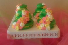 Wedding Cake Macarons in custom colors --Houston Local Delivery Only. $14.99, via Etsy.