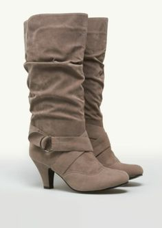 Ruched Suede Boots | Fashion Boots | rue21