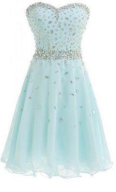 Baby Blue Homecoming Dress,Beading Homecoming Dresses