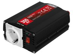 Inverter+12V+DC+ΣΕ+230V+AC+300Watt+HRP-300+BLOW+5871Είναι+κατάλληλο+την+τροφοδοσία+φορητών+υπολογιστών,+τηλεοράσεων,+ραδιοφώνων,+λαμπών,+fax,+μικρών++ηλεκτρικών+συσκευών.Χαρακτηριστικά:Είσοδος:+10-15V+DCΡεύμα+ηρεμίας:+<0.4AΈξοδος:+230V+AC+50Hz+Ισχύς:+300WATTΨύξη:+ανεμιστήρας+με+θερμικό+αισθητήραΑσφάλεια+από:+βραχυκύκλωμα,+χαμηλή+μπαταρία+με+ηχητική+προειδοποίηση+και+κατόπιν+διακοπή+λειτουργίας,+υπερθέρμανση+με+ηχητική+προειδοποίηση++και+κατόπιν+διακοπή+λειτουργίας+,+υπερφόρτωση+με+ηχητική