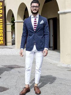 【MEN'S CLUB】春夏のネイビーJKを大人トラッドに着こなすシンプルな方法