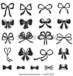 stock-vector-black-and-white-silhouette-image-of-bow-set-145277053.jpg (450×470)