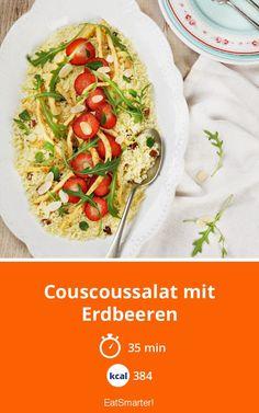 Couscoussalat mit Erdbeeren - kalorienarm - einfaches Gericht - So gesund ist das Rezept: 8,4/10 | Eine Rezeptidee von EAT SMARTER | Vegane Hauptgerichte, Vegetarisches Mittagessen, Vegetarisches Abendessen, Vegetarische Salate, Vegetarische Hauptgerichte, Was koche ich heute, für 4 Personen, Hausmannskost, Ländlich, Gemüse, Getreide, Kräuter, Omelett, Obst, Couscous-Salat, sättigender Salat, Erdbeer-Salat, Mittagessen, Abendessen, Beilage, Hauptspeise, Vegetarisch #salat #gesunderezepte Couscous Salat, Eat Smarter, Healthy Lifestyle, Cabbage, Salads, Vegetables, Food, Vegetarian Main Dishes, Vegetarian Lunch