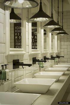 simple bathroom format that encompasses similar wash bowls