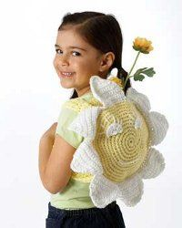 Crochet Smiling Sunflower Bag with Free Pattern