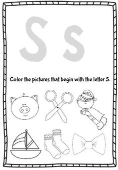 Perfect intervention or extra practice for students who need help with letter and sound recognition! Students can trace the letters and color in or circle the pictures that have the same beginning sound. Jolly Phonics, Picture Letters, Beginning Sounds, Literacy Stations, Teaching Resources, Kindergarten, Students, Graphics, Lettering