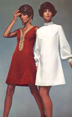 The late 1960's gave women and girls the opportunity to put their hemlines at any altitude they chose.