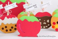 how cute are these, cut with the silhouette and lettering delights svg file...so adorable....
