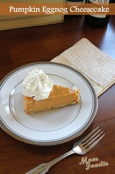 Pumpkin Eggnog Cheesecake -- how is this possible?!?