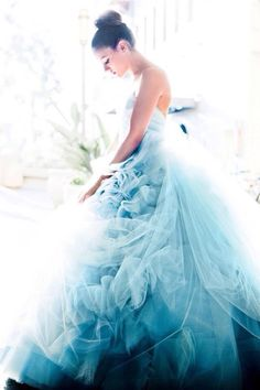 Soft blue tulle