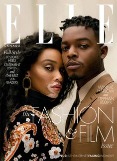 Model Winnie Harlow and actor Stephan James cover the September 2019 issue of Elle Canada. Lensed by photographer Norman Wong, Winnie wears Richard Quinn, . Black Magazine, Elle Magazine, Magazine Art, Norman, Model Winnie Harlow, Magazin Covers, Cover Boy, Mode Chanel, Canadian Models