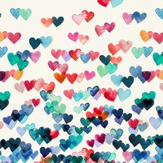 Heart Connections - watercolor painting Art Print by Micklyn | Society6