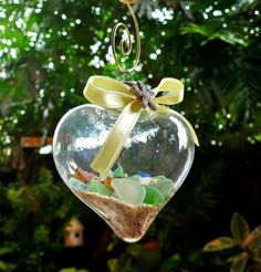 Image result for SEA GLASS CHRISTMAS ORNAMENTS