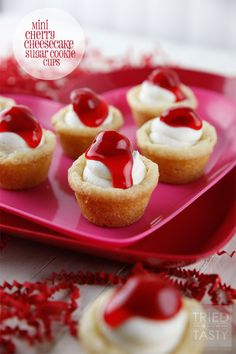 Red White & Blue Strawberry Blueberry Sugar Cookie Cups with Coconut Cream Cheese Filling - Tried and Tasty
