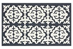 nuLOOM Milo Rug, Charcoal/White