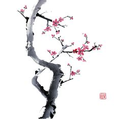 Chinese Brush Painting - The Gentleman Plum by Nan Rae