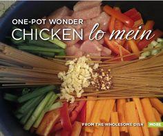 Dinner Tonight: One-Pot Wonder Chicken Lo Mein by thewholesomedish