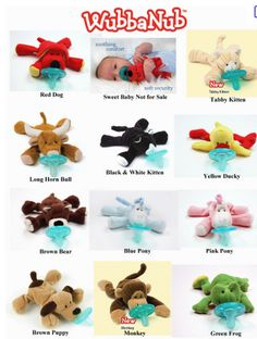 Wubbanub pacifiers... adorable and babies love them