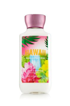 Hawaii Passionfruit Kiss Body Lotion - Signature Collection - Bath & Body Works   A sexy pairing of exotic passionfruit & papaya blossoms wrapped in creamy macadamia