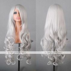 "80cm 32 "" Heat Resistant Medium Long Wavy Cosplay Wig | eBay"