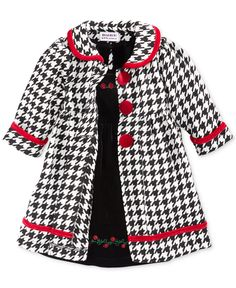 Blueberi Boulevard Baby Girls' 2-Piece Dress & Coat Set - Kids Baby Girl (0-24 months) - Macy's