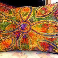Stitch & Slash Pillow no. 2 by Christinehuxter