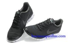 Hombre Nike Free 3.0 V2 Zapatillas (color : vamp - negro , en el interior y logotipo - gris ; sole - blanco)
