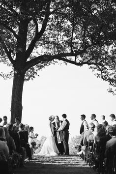 ceremony under the trees | Kate Triano #wedding