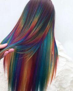 Cute Hair Colors, Gorgeous Hair Color, Hair Color Blue, Cool Hair Color, Hidden Rainbow Hair, Hidden Hair Color, Pelo Multicolor, Peekaboo Hair, Best Hair Dye