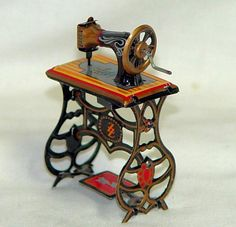 """"""" Sewing Machine """" Penny Toy Made by I Think Johann Meier Circa 1897 1935 Vintage Games, Vintage Toys, Antique Toys, Vintage Antiques, Love Machine, Vintage Sewing Notions, Antique Sewing Machines, Tin Toys, Sewing Toys"""