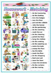 Housework Vocabulary