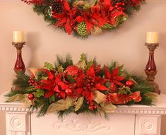 Poinsettia Christmas Centerpiece : Floral Home Decor, silk rose arrangements, tulip floral arrangements, magnolia silk flower arrangements, tropical arrangements, tropical silk flower arrangements, peony arrangement, sunflower arrangements