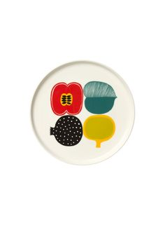 To know more about marimekko Kompotti plate, visit Sumally, a social network that gathers together all the wanted things in the world! Featuring over other marimekko items too! Marimekko, Scandinavia Design, Illustration, White Plates, Home And Deco, Retro, Crate And Barrel, Ceramic Art, Ceramic Painting