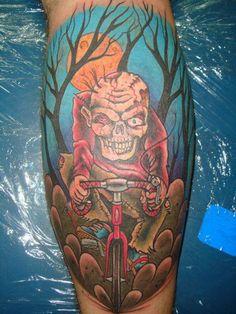 zombie bike - 35 Horrible Zombie Tattoos  <3 <3