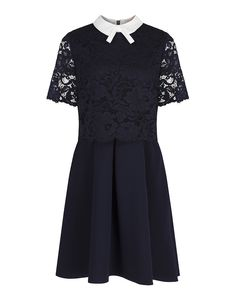 Ted Baker Women's Dixxy Lace Bodice Double Layer Dress - Navy