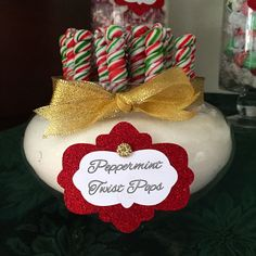 Christmas green red gold candy candy buffet Sweethearts & Co. Lapeer Michigan