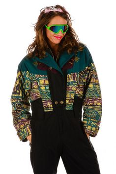 Shinesty's VHS and Chill Ski Suit | Get your vintage ski gear and all manner of outrageous clothing at Shinesty.com