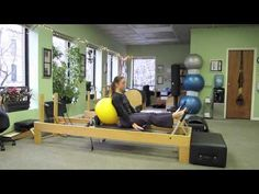 Pilates Reformer- No Springs - YouTube