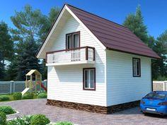 Оптима - дешевый жилой дом размером 7х6 метров с мансардой